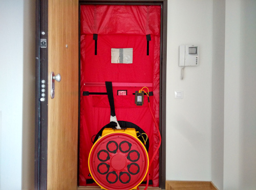 estanqueidad, blower Door, passivhaus, envolvente